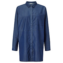 Buy Minimum Neta Oversized Denim Shirt, Dark Blue Online at johnlewis.com