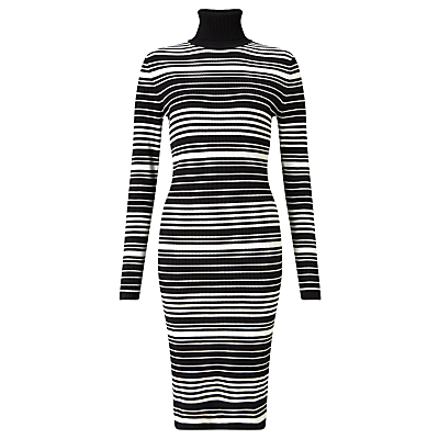 Minimum Chanella Stripe Dress, Black/White