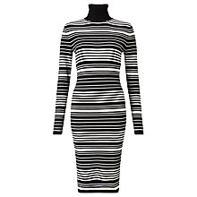 Buy Minimum Chanella Stripe Dress, Black/White Online at johnlewis.com