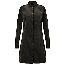 Buy Minimum Mathia Corduroy Shirt Dress, Gator Green Online at johnlewis.com