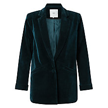 Buy Minimum Sigga Velvet Blazer, Thunder Blue Online at johnlewis.com