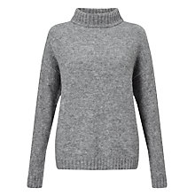 Buy Minimum Lisette Funnel Neck Jumper, Light Grey Online at johnlewis.com