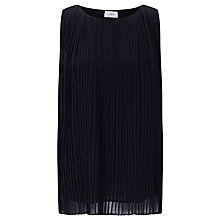 Buy Minimum Matilde Pleated Top, Black Online at johnlewis.com