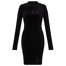Buy Minimum Sella Velvet Dress, Black Online at johnlewis.com