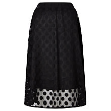 Buy Numph Judita Spot Tulle Skirt, Caviar Online at johnlewis.com