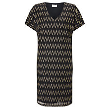 Buy Numph Zag Sparkle Tunic Dress, Caviar Online at johnlewis.com