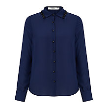 Buy Darling London Maxine Shirt, Navy Online at johnlewis.com