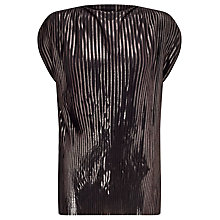 Buy Minimum Yonna Metallic Top, Black Online at johnlewis.com