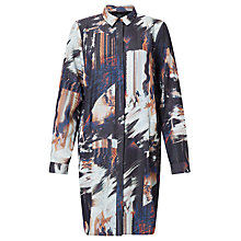 Buy Numph Ruzena Graphic Print Shirt Dress, Caviar Online at johnlewis.com