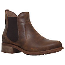 Buy UGG Bonham Block Heeled Ankle Boots, Dark Brown Online at johnlewis.com