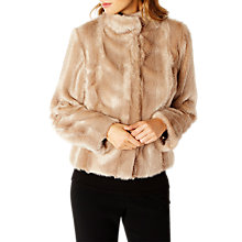 Buy Coast Chelsea Faux Fur Coat, Caramel Online at johnlewis.com