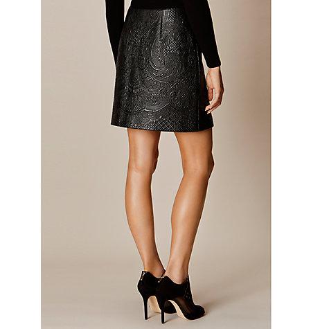buy millen faux leather skirt black lewis