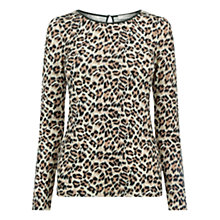 Buy Oasis Brushed Animal Top Online at johnlewis.com