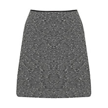 Buy Oasis Tweed Mini Skirt, Mid Grey Online at johnlewis.com