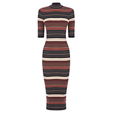 Buy Oasis Stripe Metallic Tube Dress, Multi Online at johnlewis.com