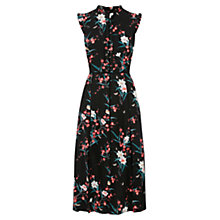 Buy Oasis Hannah Oriental Midi Dress, Multi Black Online at johnlewis.com