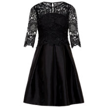 Buy Ted Baker Maaria Lace Bodice Dress, Black Online at johnlewis.com
