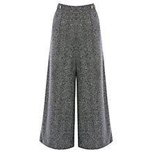 Buy Coast Likka Wide Leg Cropped Trousers, Grey Online at johnlewis.com