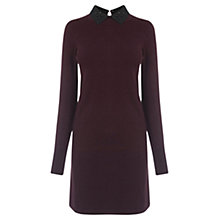 Buy Oasis Embellished Collar Dress, Burgundy Online at johnlewis.com
