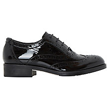 Buy Dune Farnley Lace Up Brogues, Black Patent Online at johnlewis.com
