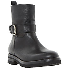Buy Dune Rexx Buckle Ankle Boots, Black Online at johnlewis.com