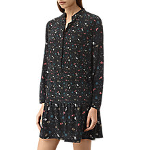 Buy AllSaints Lin Rose Dress, Black Online at johnlewis.com