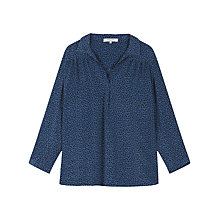 Buy Gerard Darel Crush Blouse, Dark Blue Online at johnlewis.com