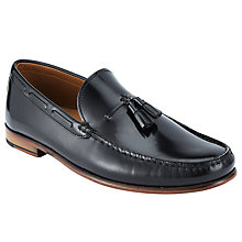 Buy John Lewis Lloyd Tassel Penny Loafers, Black Online at johnlewis.com