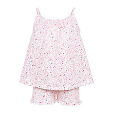 Buy John Lewis Children's Floral Print Swing Short Pyjamas, Pink Online at johnlewis.com