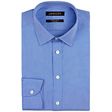 Buy Jaeger End-on-End Non-Iron Regular Fit Shirt, Blue Online at johnlewis.com