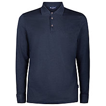 Buy Aquascutum Roscoe Long Sleeve Polo Shirt, Charcoal Online at johnlewis.com