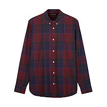 Buy Jaeger Sanded Overpane Check Regular Fit Shirt, Winetasting Online at johnlewis.com