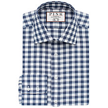 Buy Thomas Pink Plato Check Slim Fit Shirt, White/Navy Online at johnlewis.com