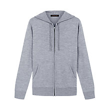 Buy Jaeger Melange Merino Hoodie, Grey Melange Online at johnlewis.com