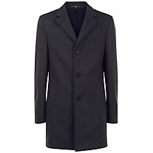 Buy Jaeger Wool Cashmere Overcoat, Charcoal Online at johnlewis.com