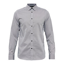 Buy Ted Baker Jamidoj Wavy Line Print Cotton Shirt Online at johnlewis.com