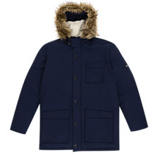 Buy Original Penguin Insulated Dry Wax Parka Jacket, Dark Sapphire Online at johnlewis.com