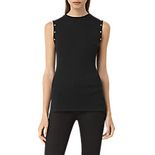 Buy AllSaints Rossa Top, Black Online at johnlewis.com