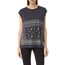 Buy AllSaints Bayeux Brooke T-Shirt, Dark Night Blue Online at johnlewis.com