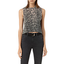 Buy AllSaints Sinai Cropped Tank Top, Green Online at johnlewis.com
