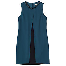 Buy Precis Petite Jeff Banks Olympia Cape Dress, Dark Green Online at johnlewis.com
