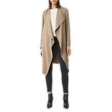 Buy AllSaints Iza Coat, Light Sand Online at johnlewis.com