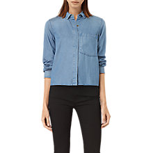 Buy AllSaints Biella Shirt, Indigo Online at johnlewis.com