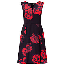 Buy Studio 8 Rosetta Dress, Black/Red Online at johnlewis.com