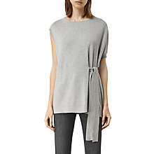 Buy AllSaints Shera Top, Grey Marl Online at johnlewis.com