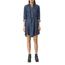 Buy AllSaints Sanko Denim Dress, Indigo Blue Online at johnlewis.com