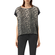 Buy AllSaints Sinai  Pina T-Shirt, Green Online at johnlewis.com