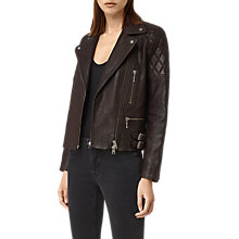 Buy AllSaints Armstead Leather Biker Jacket Online at johnlewis.com