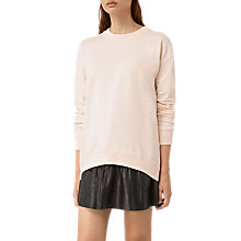 Buy AllSaints Lea Sweatshirt, Quartz Pink Online at johnlewis.com