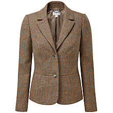 Buy Pure Collection Peyton Textured Wool Blazer, Camel Dogtooth Online at johnlewis.com
